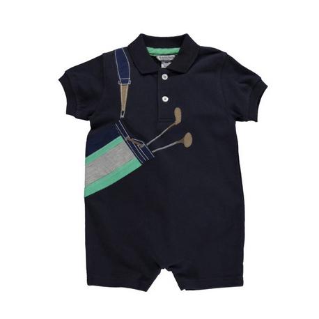 ゴルフ刺繍ロンパース