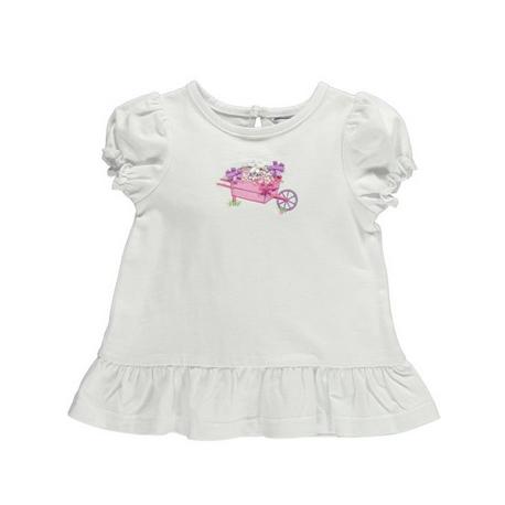 ベビー花刺繍Tシャツ