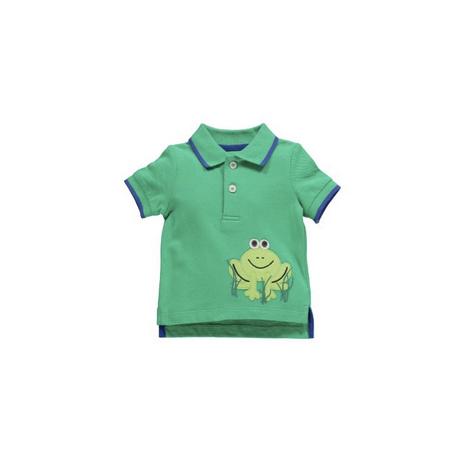 カエルアップリケ付きポロシャツ