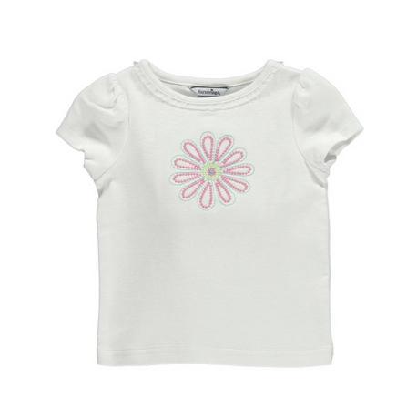 ピンク花プリントシャツ