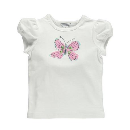 蝶々プリントシャツ