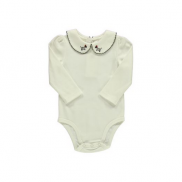 Baby Girl Embroidered Collar Bodysuit