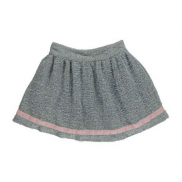 Shirred Boucle Skirt