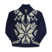 Shawl Collar Snowflake Pullover