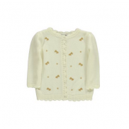 Baby Girl Embroidered Bow Cardigan